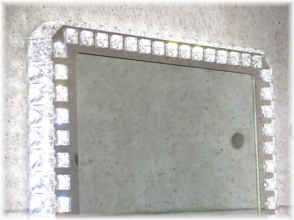鏡 かがみ カガミ ミラー 姿見鏡 壁掛け鏡 大型鏡 卓上鏡 ドレッサー スタンドミラー 激安 おしゃれ【!】 新品・LED内蔵 オシャレなデザイン 豪華クリスタル壁掛け鏡鏡 かがみ カガミ ミラー 壁掛け 姿見 大型 卓上 おしゃれ