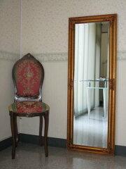 ★枚数限定激安販売★【姿見】額のデザインは石膏彫刻で重量感&立体感があるおしゃれな鏡です...