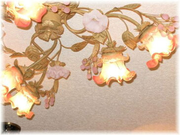 照明 照明器具 シャンデリア LED シーリング おしゃれ【送料無料】可愛いデザイン照明新品 アンティーク調6灯シャンデリア シーリングタイプシャンデリア 照明 照明器具LED シーリング ライト 豪華 家電 おしゃれ アンティーク