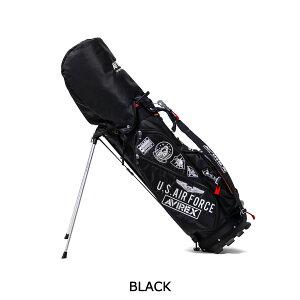 アヴィレックスゴルフキャディバッグAVIREXGOLFゴルフバッグスタンドフード9.5型46インチ対応5分割ショルダースタンドクラブケースゴルフ用品メンズレディースAVXBA1-1CB2021SS