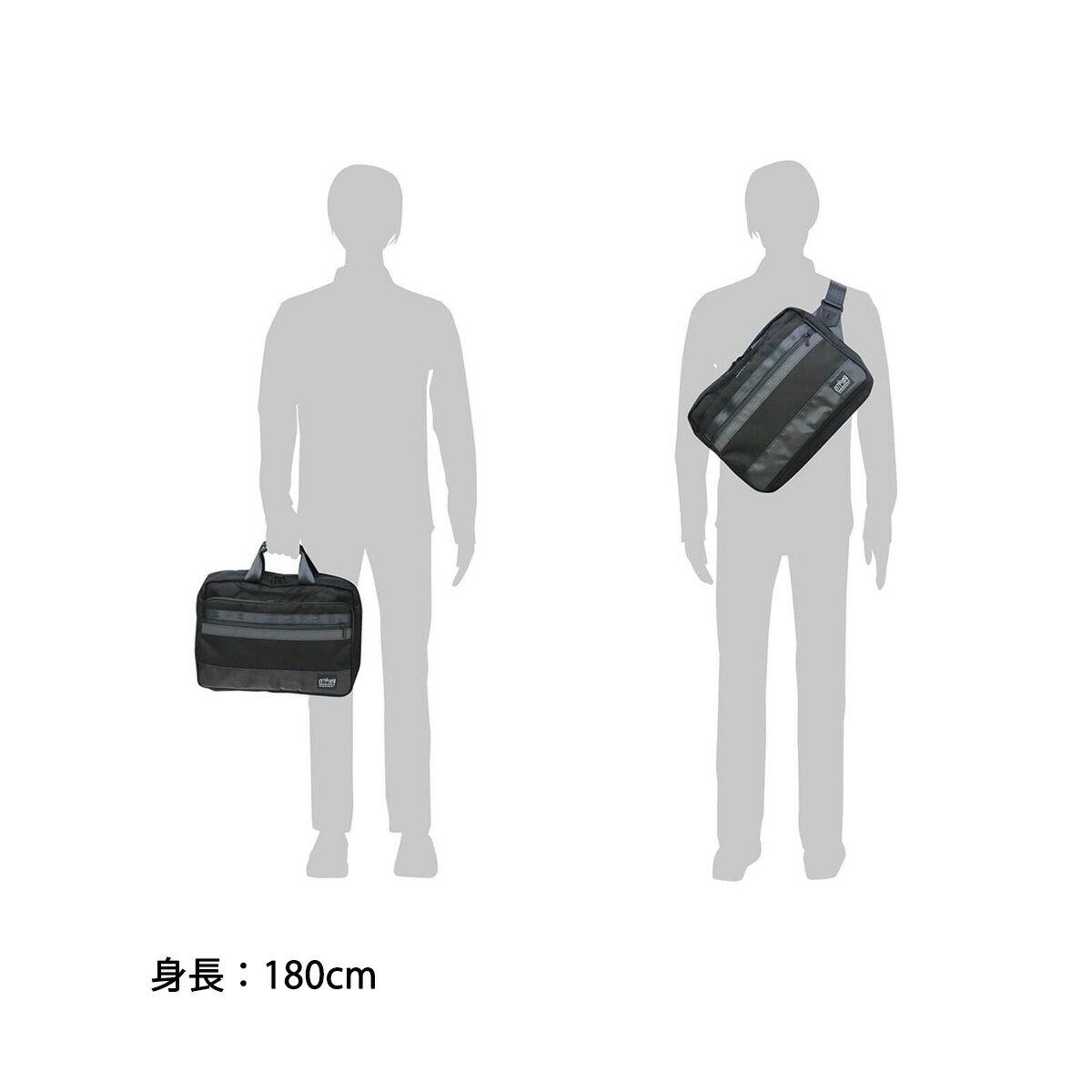 【エントリーで11倍★Rカードで13倍 5/16限定】【日本正規品】マンハッタンポーテージ ブラックレーベル ビジネスバッグ Manhattan Portage BLACK LABEL 2WAYメッセンジャーブリーフ BRYANT PARK BRIEFCASE ブリーフケース B4 通勤 メンズ MP1472BL