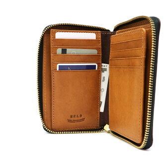 ネルドミドルラウンド財布NELDPUEBRO二つ折り財布小銭入れありメンズレディース革プエブロAN150
