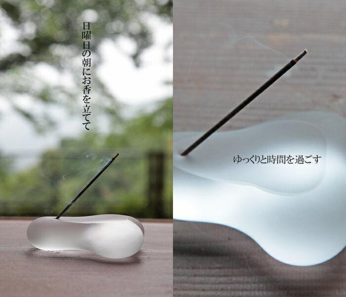 お香立て「くもい」お香立て・お香たて・ガラス雑貨・ガラスアーティスト作品の通販・販売【smtb-k】【ky】