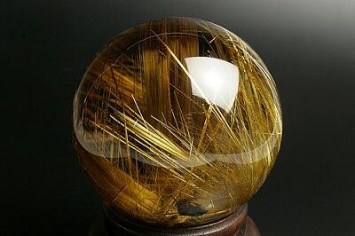 幻の名品 ルチル水晶78mm丸玉