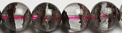 10.5mm最高級品5Aシルバーレッドガーデン水晶粒売りビーズ画像