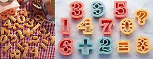 PCクッキー抜型 数字13P