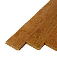 ヘリンボーン張りが可能な無垢パーケットフローリング。赤みを帯びたブラウン系の色で滑らかな木目のチーク材です。壁材やDIYテーブルの天板材料にもおすすめ。