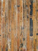 パイン系の無垢古材薄板。壁や腰板など内装や家具の材料にお使いください。経年変化で赤みが増したブラウンです。