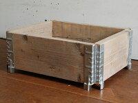 折り畳み可能なボックス枠を作る蝶番スタッキング・ヒンジ・4コセット[貨物パレット用ラジオフライヤー用][金具金物][DIYリノベーションリメイク]…