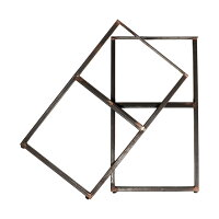 【スクエア】シンプル・アイアン・レッグス(Mサイズ)400x700※脚のみの商品です。棚板とビスは付属しません。※2個セット【送料区分2】