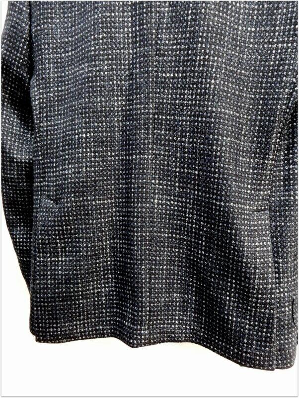 ANGELO NARDELLI 1951 (アンジェロ ナルデッリ 1951) CANONICO(カノニコ)生地使用 ツイード調 シルク ウール ジャケット ネイビー