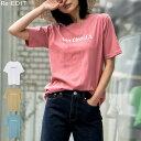 ≪3月14日発売≫上品なロゴデザインでワンランク上のTシャツスタイルにMサイズ SanDiegoロゴTシャツ レディース/Tシャツ ロゴTシャツ 半袖 クルーネック トップス 綿100% くすみカラー[2019夏新作]