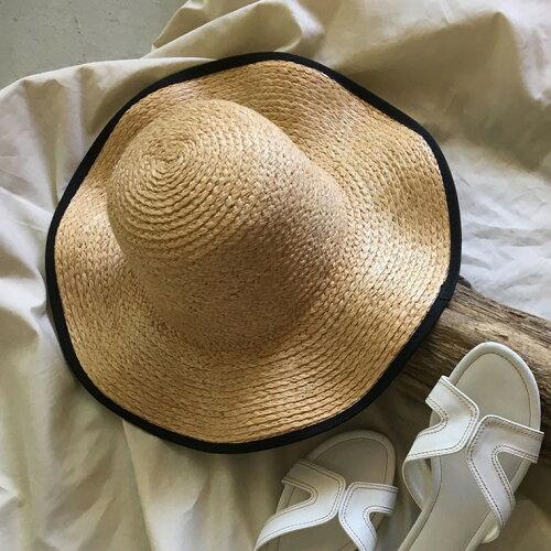 パイピング麦わら帽子