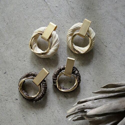 ロープデザインサークルピアス