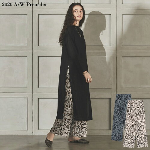 [2020A/W PRE ORDER][低身長向け/高身長向けサイズ対応]アニマルドット柄ストレートパンツ