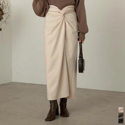 [低身長向けSサイズ対応][お家で洗える]起毛ジャージーストレッチメニーウェイスカート