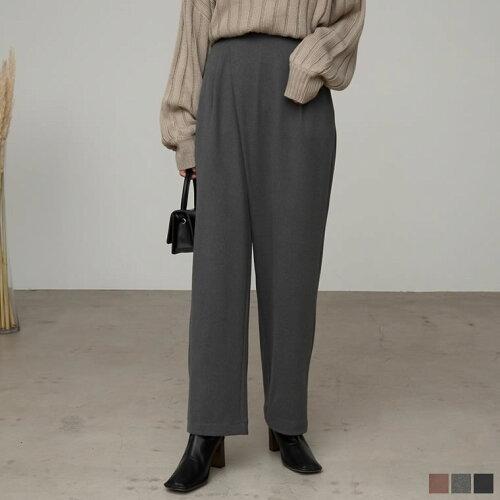 [低身長向け/高身長向けサイズ対応]マシュマロカットアシメテーパードパンツ