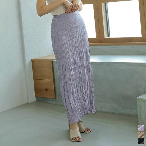 [低身長/高身長サイズ対応]ライトピーチ起毛ワッシャープリーツスカート