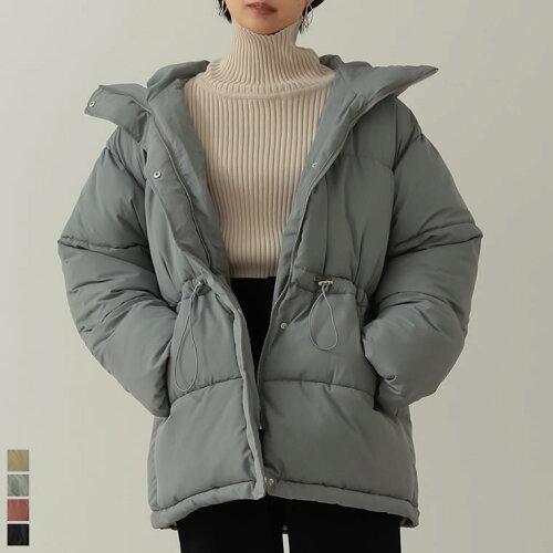 マットファイバーミディ丈中綿ジャケット