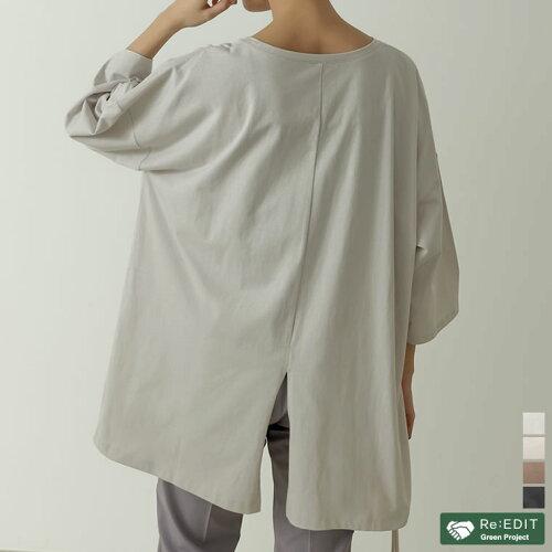 USAコットンバックスリットTシャツ