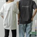 ≪3月25日発売≫エシカルなロゴメッセージがアクセントS/M/Lサイズ USAコットンバックロゴT大人用 レディース/Tシャツ トップス カットソー 半袖 2021春[I.W.Uプロジェクト][USAコットン][あす楽対応]