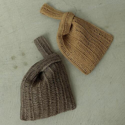 透かし編みワンハンドルトートバッグ