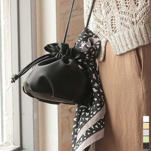 [2021 SUMMER COLLECTION]ヴィーガンレザー巾着バッグ