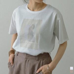 シルケットコットンフォトプリントTシャツ
