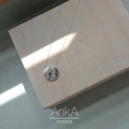 [AnkA moore(アンカムーア)][低アレルギー対応]フルムーンプレートロングネックレス[返品交換不可]