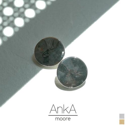 [AnkA moore(アンカムーア)][低アレルギー対応]フルムーンプレートピアス[返品交換不可]