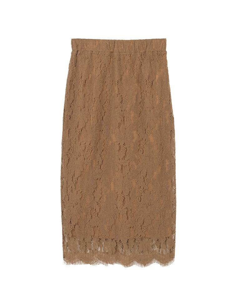 フラワーレータイトスカート