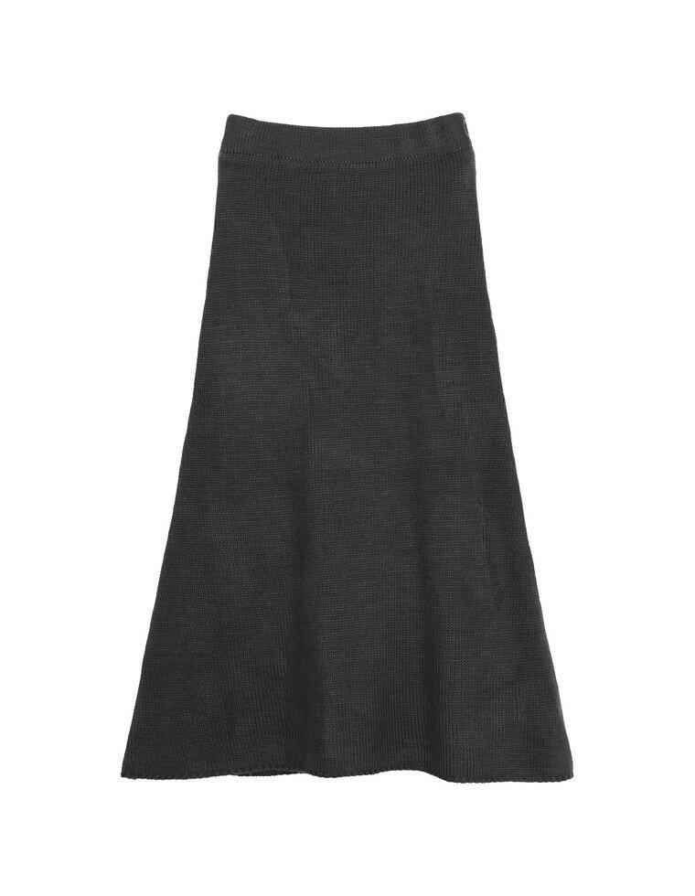 バックスリットセミフレアニットスカート