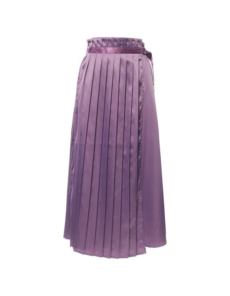 切り替えサテンプリーツスカート