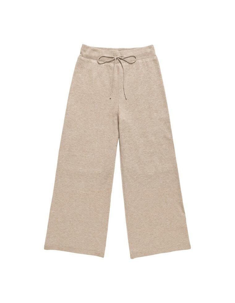 天竺編みストレッチニットトレートパンツ