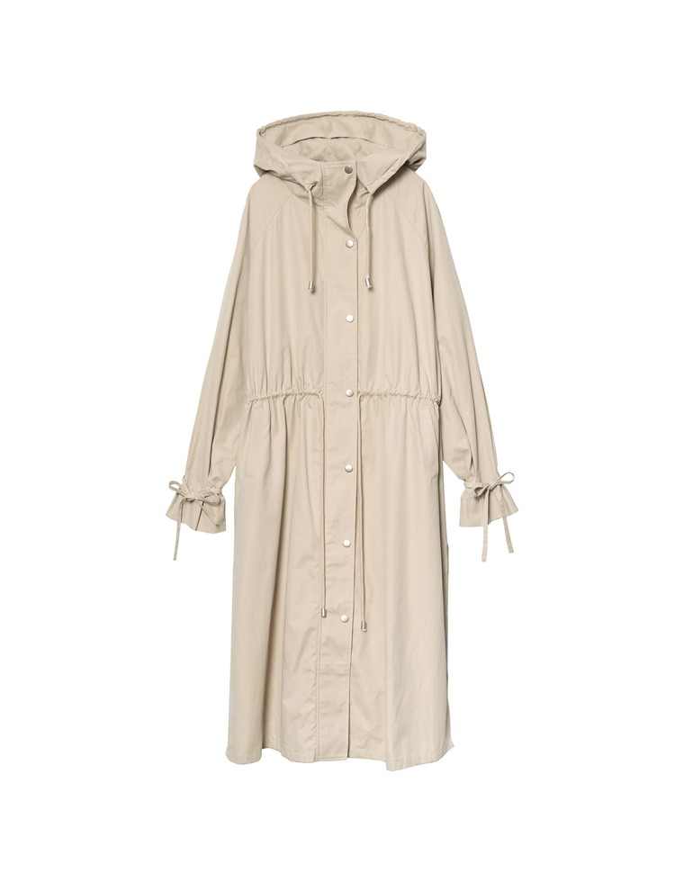 [2020A/W PRE ORDER][低身長向けSサイズ対応]袖ベルトロング丈ミリタリージャケット