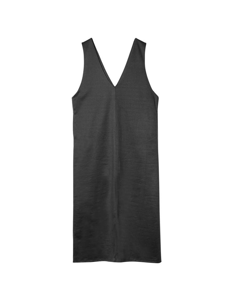 [高橋ユウさん着用][サステナブル][低身長向け/高身長向けサイズ有]リサイクル起毛ジャージーVネックジャンパースカート