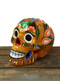 【インポート/即納】メキシカンスカルカラベラデコールラージサイズ陶器イエローMEXICANSKULLLARGEyellow