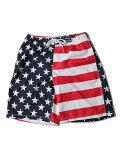 【US限定モデル/あす楽】USフラッグ星条旗柄スイムショーツショートパンツ水着インナー付き大きいサイズUSAFLAGSWIMSHORTSnavy/white/red