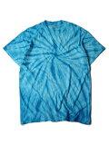 【USモデル/即納】タイダイTシャツ サイクロン スパイラル ブルー 青 TIEDYE CYCLONE S/S TEE turquoise