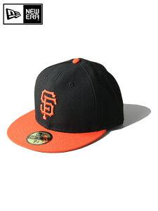 """【正規取扱店】ニューエラ オーセンティックサンフランシスコ ジャイアンツ ブラック オレンジ NEW ERA / AUTHENTIC COLLECTION """"San Francisco Giants """" black/orange"""