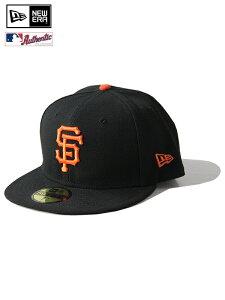 """【正規取扱店】NEW ERA /59FIFTY AUTHENTIC COLLECTION FLAG LOGO """"San Francisco Giants"""" black/orange ニューエラ 5950 オーセンティック サンフランシスコ ジャイアンツ ベースボール キャップ ブラック オレンジ FL有"""