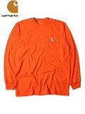 【正規品】【インポート】Carharttカーハート/ロングスリーブポケットTシャツオレンジK126L/SPOCKETT-SHITSorange