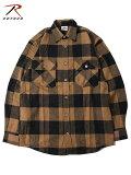 【インポート】ROTHCOロスコネルシャツブロックチェックフランネルシャツブラウン/ブラックEXTRAHEAVYWEIGHTFLANNElSHIRTbrown/black