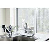 ●水が流れるスポンジ&ボトルホルダー タワー ホワイト WH 5016 Yamazaki tower 山崎実業