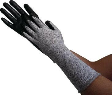 [耐切創手袋(特殊繊維)]トラスコ中山(株) TRUSCO HPPE手袋ニトリル手のひらコートロング M TGL-5595KL-M 1双(1双)【770-1039】