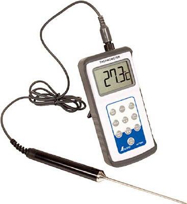 [中心温度計]シンワ測定(株) シンワ デジタル温度計H−2最高最低隔測プローブ防水型 73081 1台【756-8959】