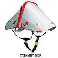 いつでも身近な場所に収納・携帯できる折りたたみヘルメット・緊急時には瞬時に装着●防災用。...