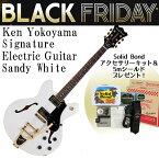 横山健シグネチュアギター Solid Bond Ken Yokoyama Signature Electric Guitar Coursesetter Sandy White w/Gold Hardware SB-KY CSR-G SWH ソリッドボンド【RCP】:-p5
