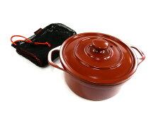 ガオバブ(Gaobabu)☆Gaobabuおそとでアヒージョ両手鍋12cm(メッシュ袋付)茶