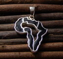 【マラソン中P10倍】シルバーネックレス メンズ アフリカ ジャマイカ レゲエ REGGAE Silver925 ブラックアフリカカットペンダントネックレス [シルバーアクセサリー]大人気アフリカシリーズにチェーン付きのブラック登場!